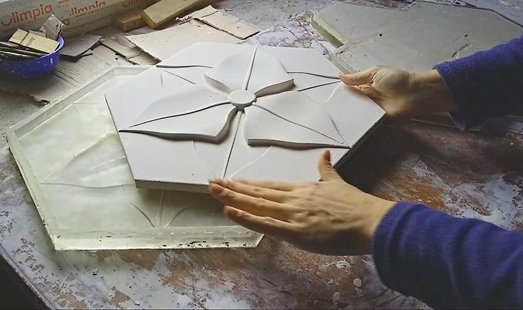 3D плита из гипса