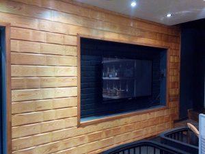 Стеновые панель из массива лиственницы