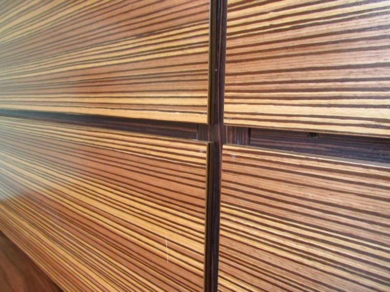 Стеновые панели из массива клена