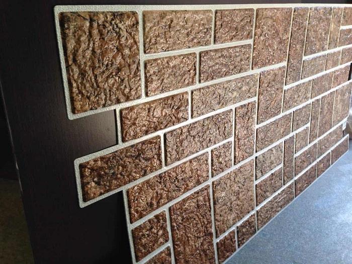 Вариант стеновых панелей под натуральный камень из ДВП