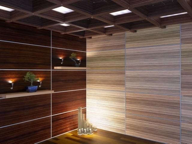 Различные сочетания фактур и окраски панелей создают неповторимые интерьеры