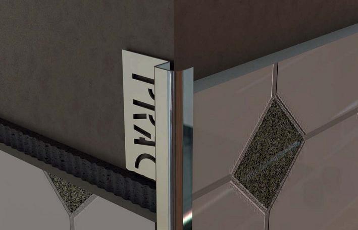 Монтаж наружного уголка керамической плитки