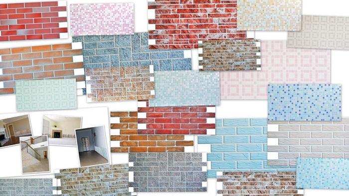 Вариант стеновых панелей из ПВХ