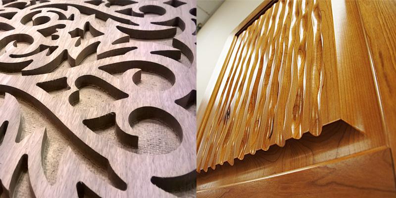 Варианты 3D панелей ручной работы из ценных древесных пород