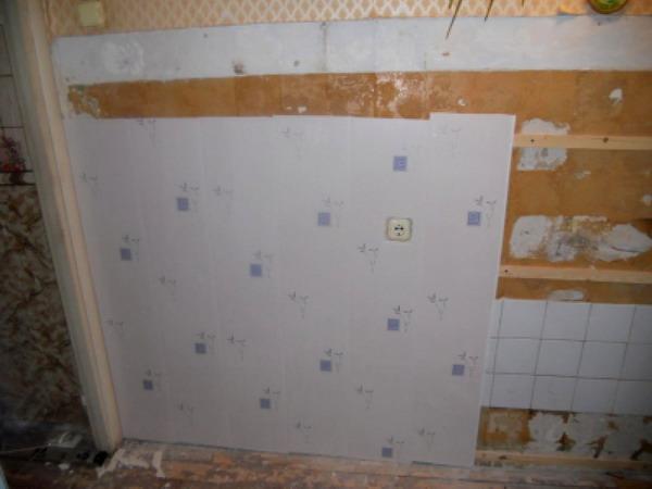 Отделываемая ПВХ плитами стена