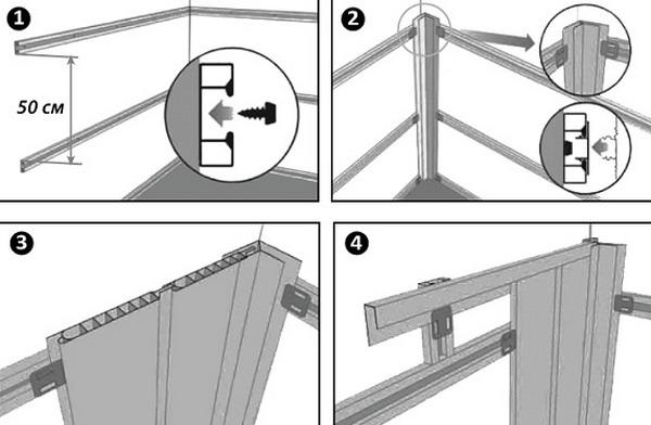 Этапы монтажа панелей