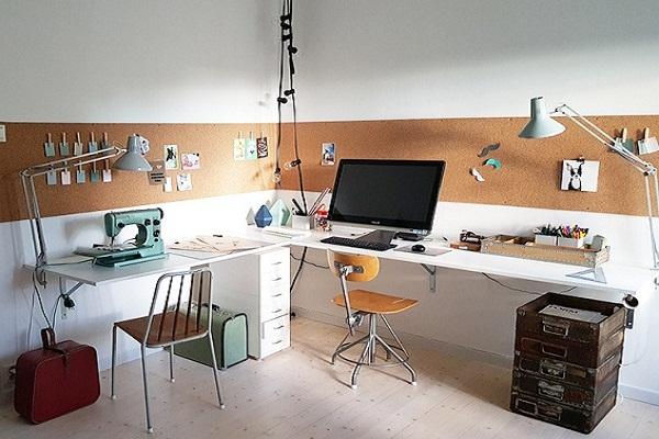 Пробковые панели в офисе