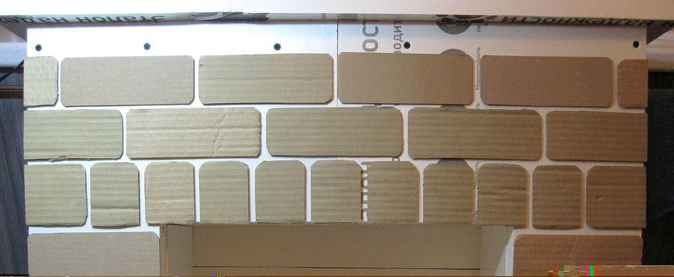 Создание декоративной кирпичной кладки из картонной бумаги