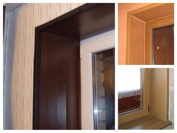 Ламинированные листы МДФ с объёмным рисунком используют в качестве отделки дверных и оконных проёмов внутри здания, а также арочных проходов