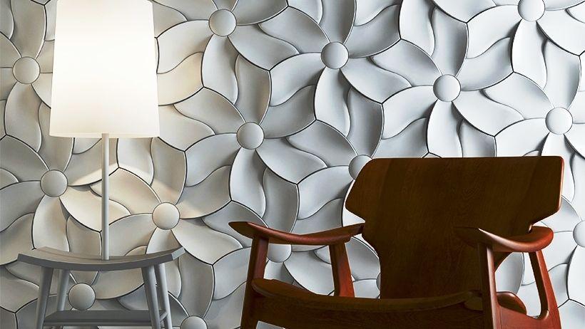 Декорирование стен объёмными панелями в современном интерьере