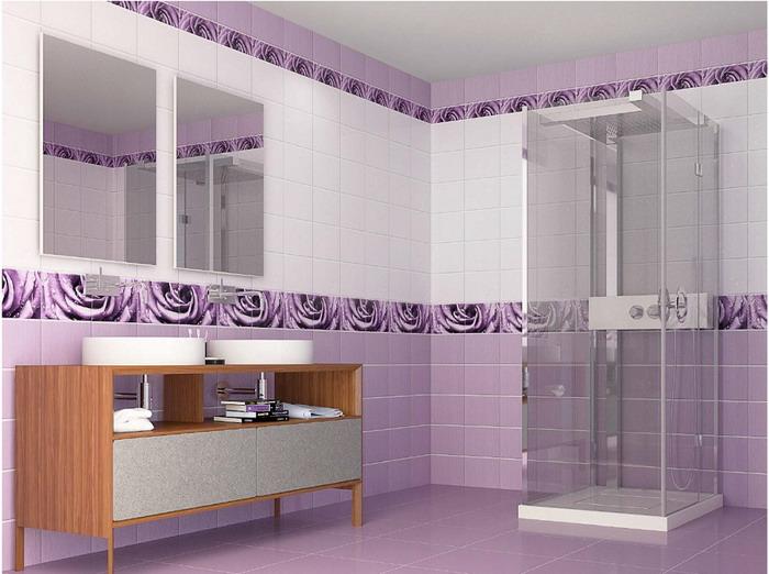Панели ПВХ в современном интерьере ванной комнаты